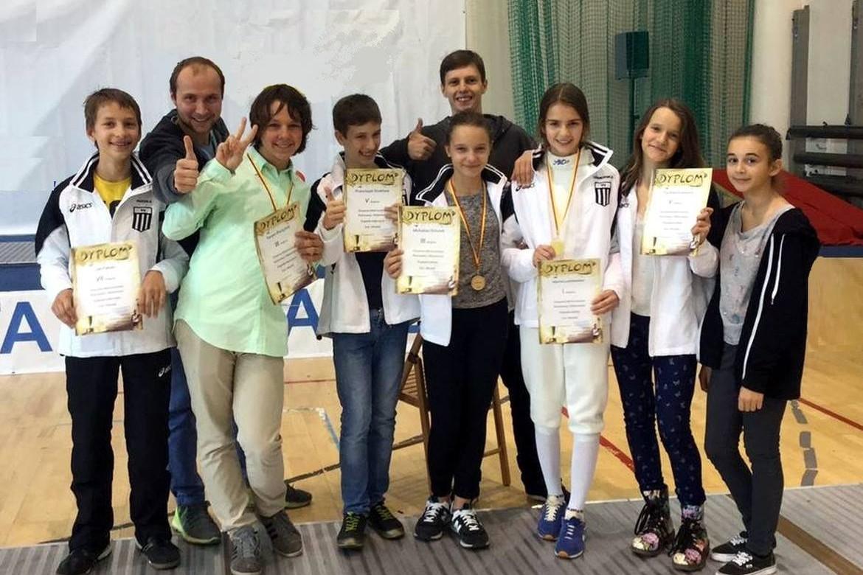 3 medale szermiercze na Otwartych Mistrzostwach Warszawy i Mazowsza