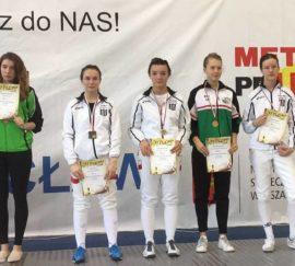 Warszawska Olimpiada Młodzieży w szermierce – złoto, srebro i brąz!