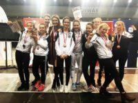 Podium drużyn Warszawianki na Turnieju z okazji 100-lecia Niepodległości